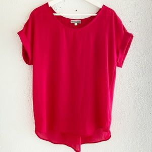 Nordstrom Pleione Short Sleeve Sheer Blouse M